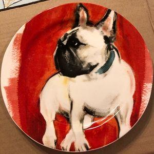 Anthropologie French Bulldog Plate